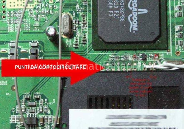 Punto da circuitare per aggiornare firmware