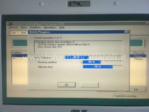 Partition Magic formattare Asus EeePC 900 napoli