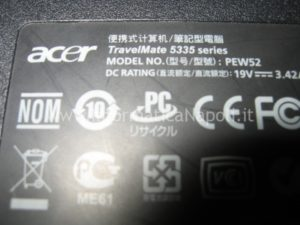 ripristino Acer Travelmate 5335 napoli