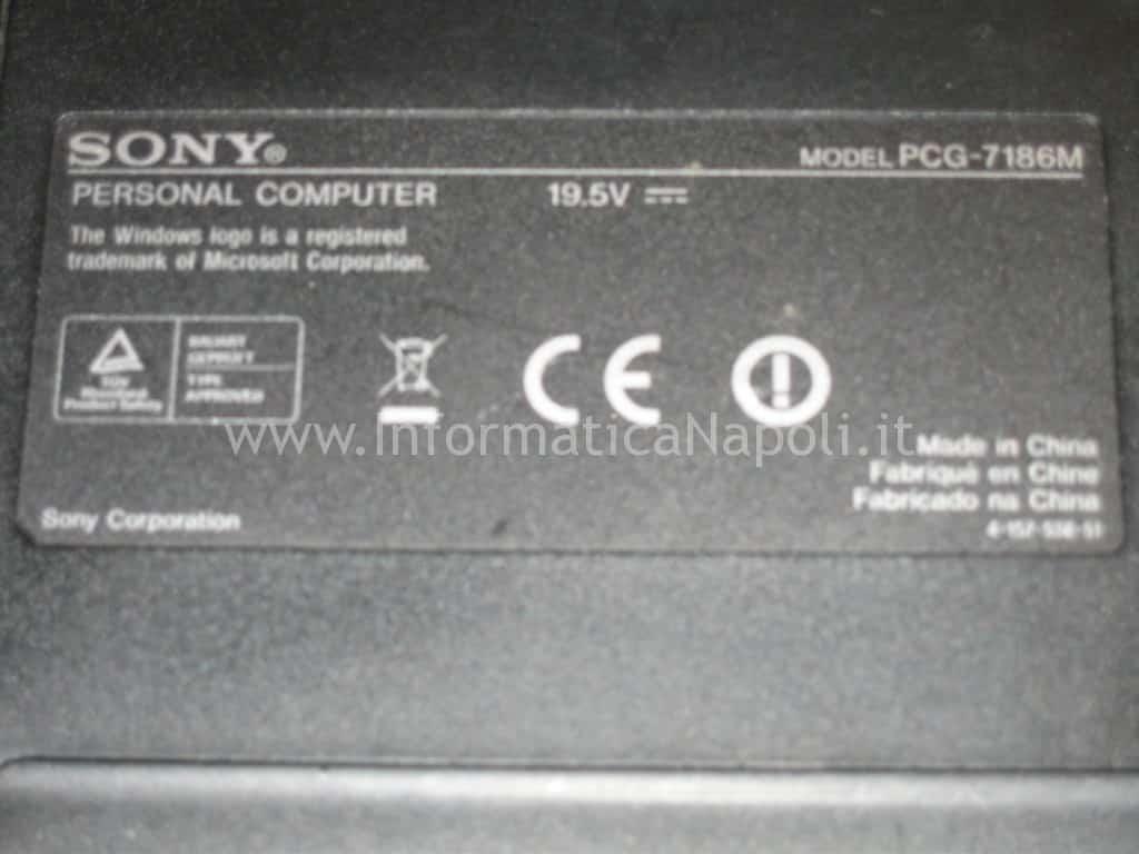 Etichetta Sony Vaio VGN-NW21MF