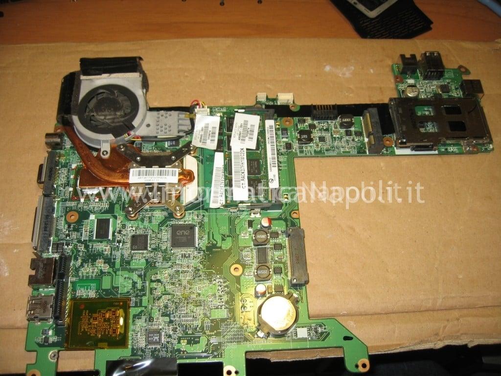scheda madre HP TX 2000 lato CPU