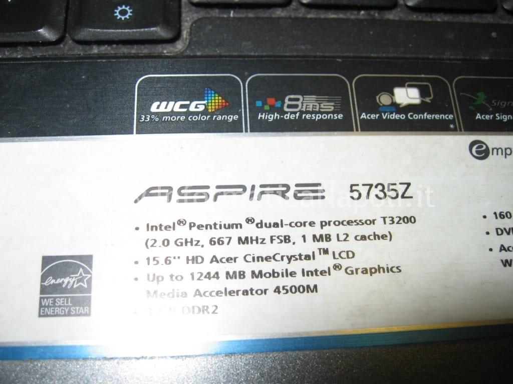 riparazione Acer Aspire 5735Z napoli