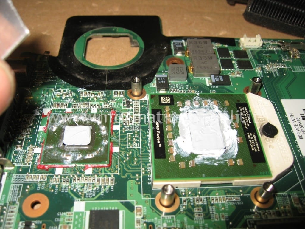 pasta termoconduttiva HP Pavilion TX 2000