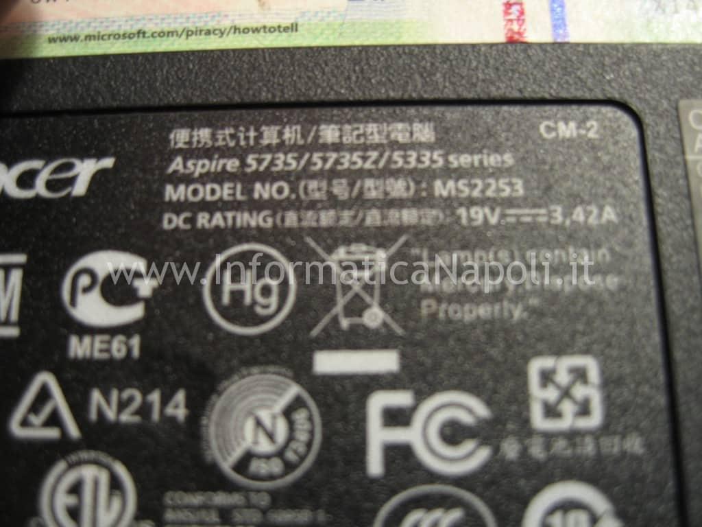 cover Acer Aspire 5735Z