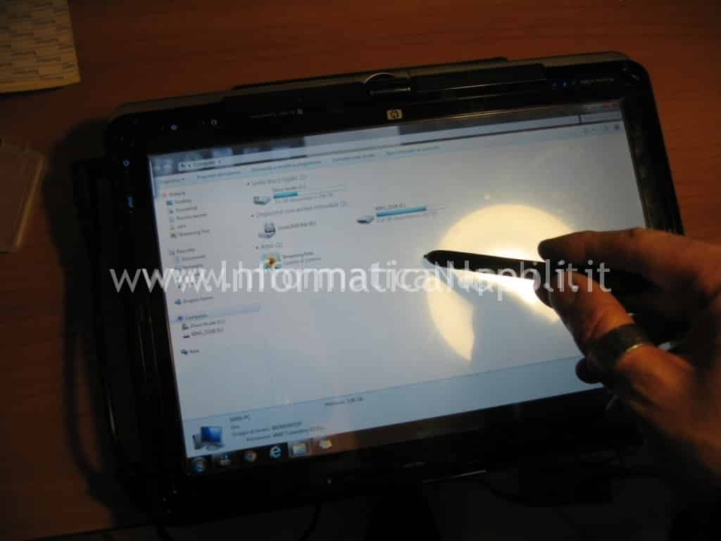 HP Pavilion TX 2000 touch screen