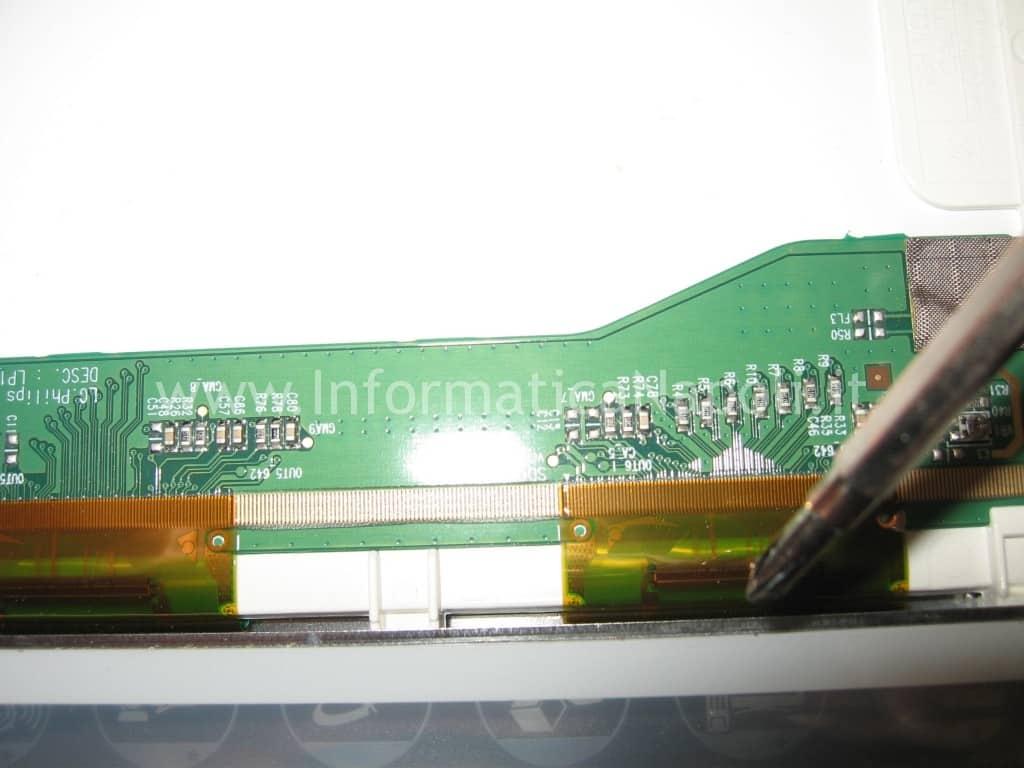 riparare display righe verticali