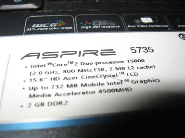 sostituzione display Acer 5735