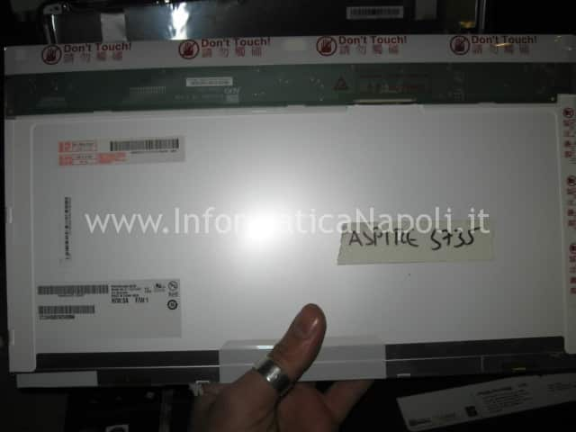 sostituzione display LCD LED Acer