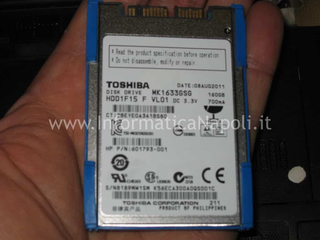 hard disk HP Compaq 2530