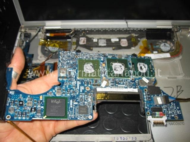 riparare scheda madre macbook pro 17 A1151 | A1212 | A1229 | A1261