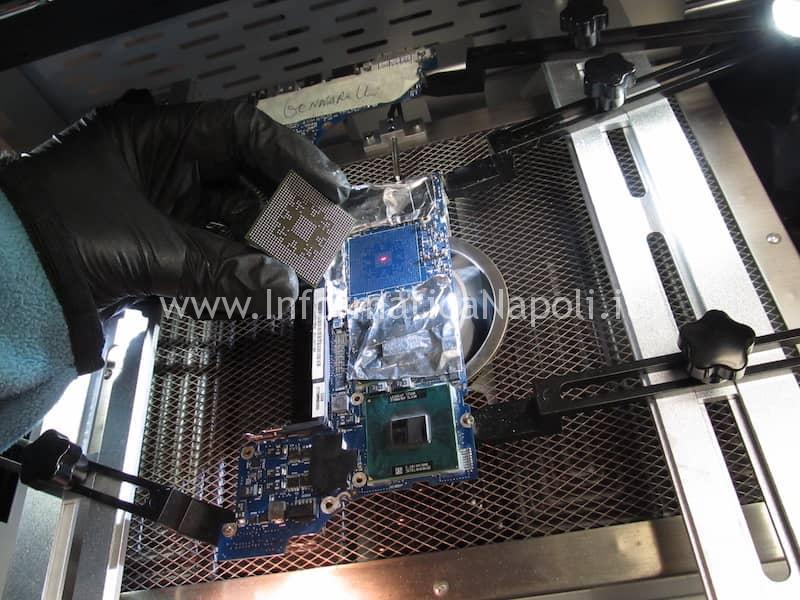 chip staccato reballing Scheda logica 820-2101-A Problemi accensione MacBook Pro 17 vintage A1151 | A1212 | A1229 |