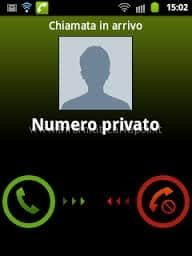 mostrare numeri anonimi