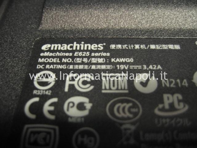 problema scheda madre eMachines E625 KAWG0