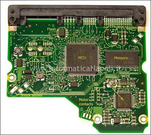 PCB controller hdd