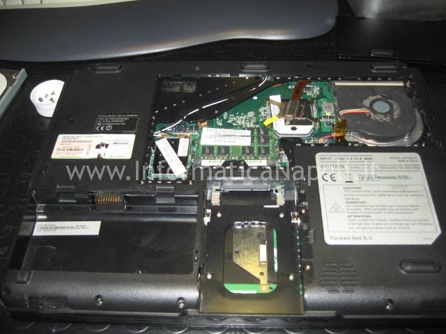Packard Bell MX51 ALP-Ajax D schermo nero
