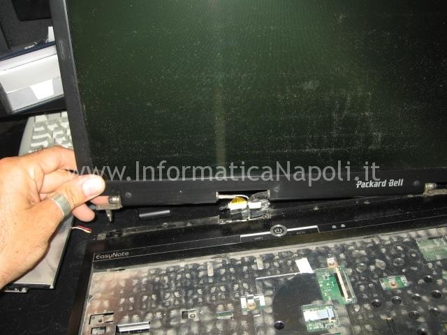 smontare lcd Packard Bell MX51 ALP-Ajax D