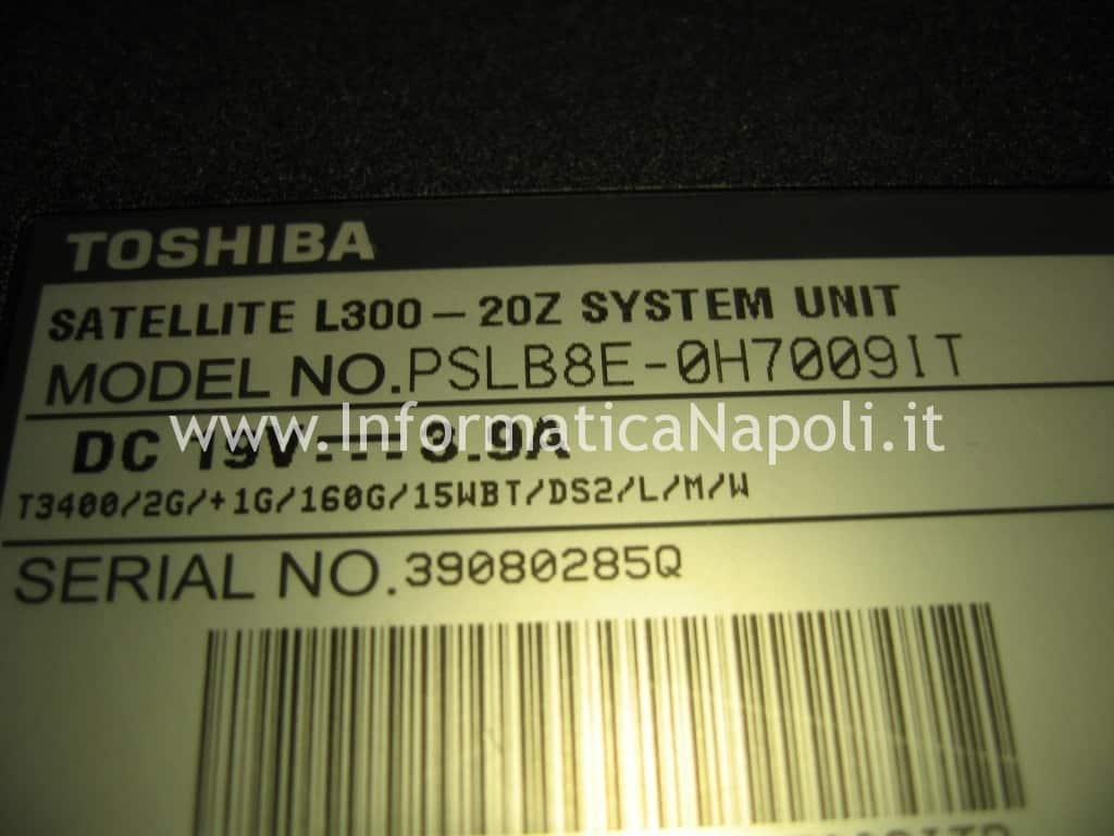 riparare Toshiba L300 - 20Z PSLB8E