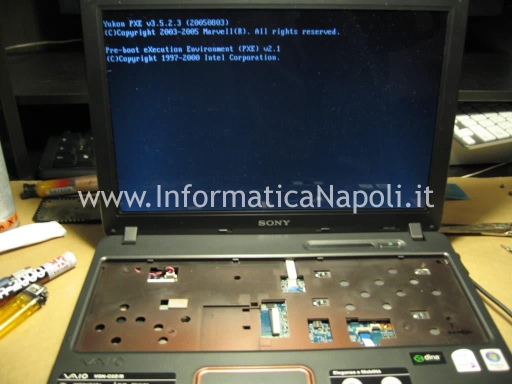 test avvio accensione Sony Vaio C2Z 6r1m