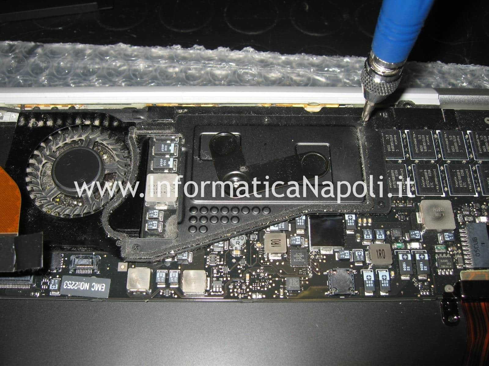 pulizia ventola MacBook air A1237 A1304 metà 2009