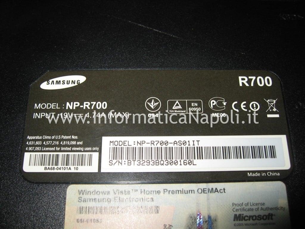 apertura samsung NP-R700