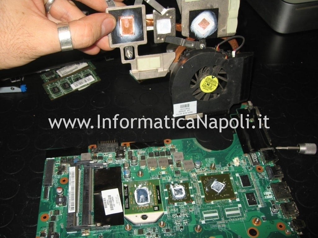 reflow reballing HP Pavilion dv6 2025sl
