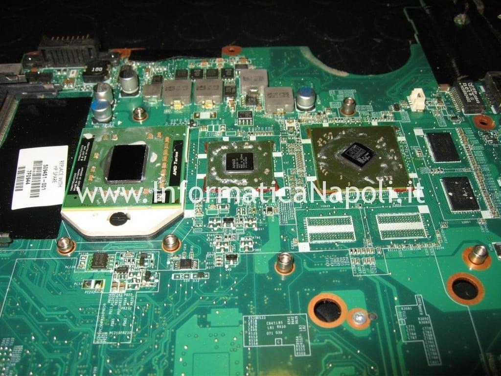 reflow reballing GPU ATI HP Pavilion dv6 2025sl