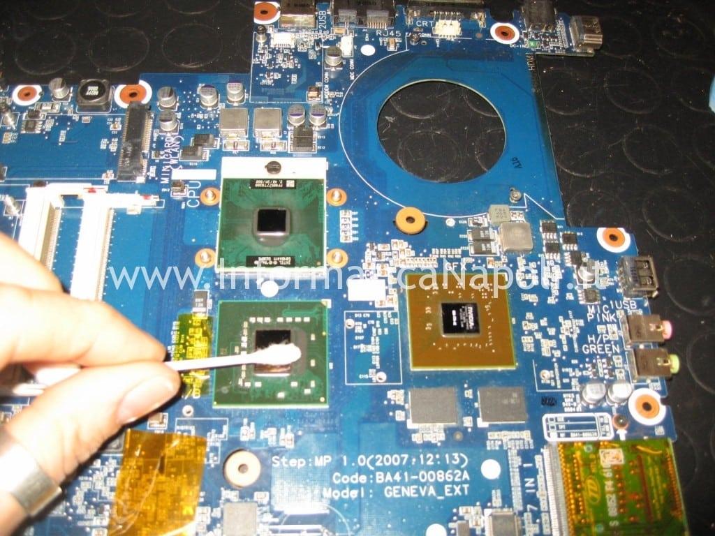 pulizia gpu cpu samsung NP R700