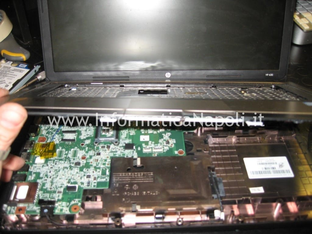 smontare scheda madre HP 630