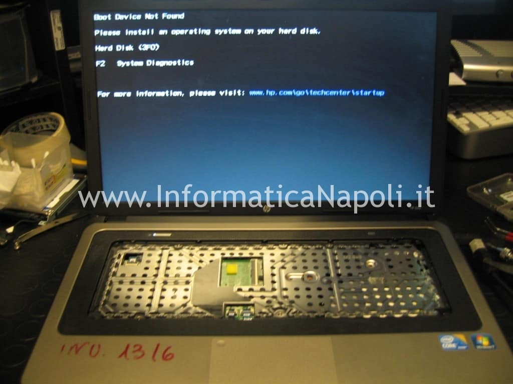 HP 630 riparato si accende