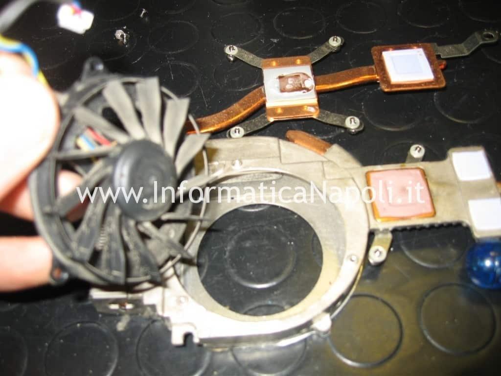 pulizia ventola dissipatore Dell Studio 1555