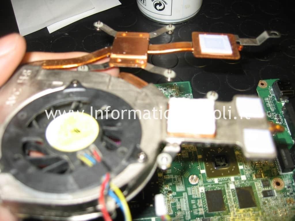 pulizia ventola dissipatore cpu gpu Dell Studio 1555