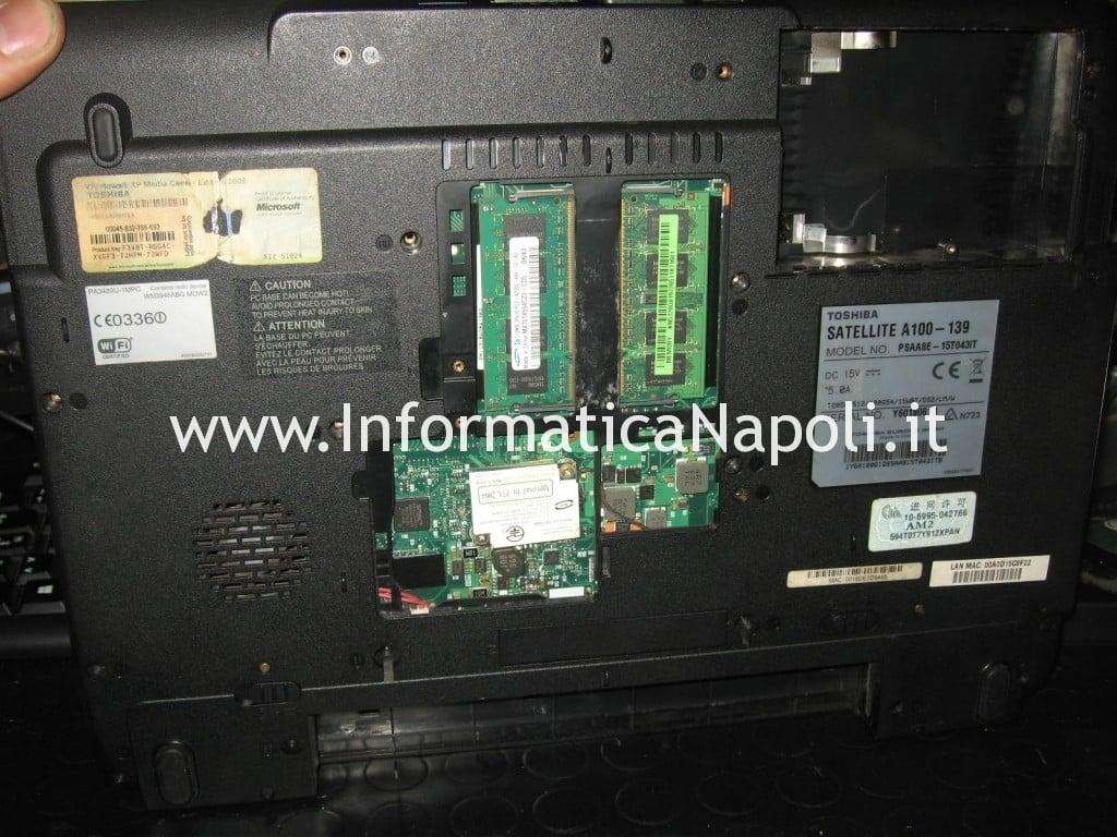 riparazione Toshiba Satellite A100 - 139 PSAA8E