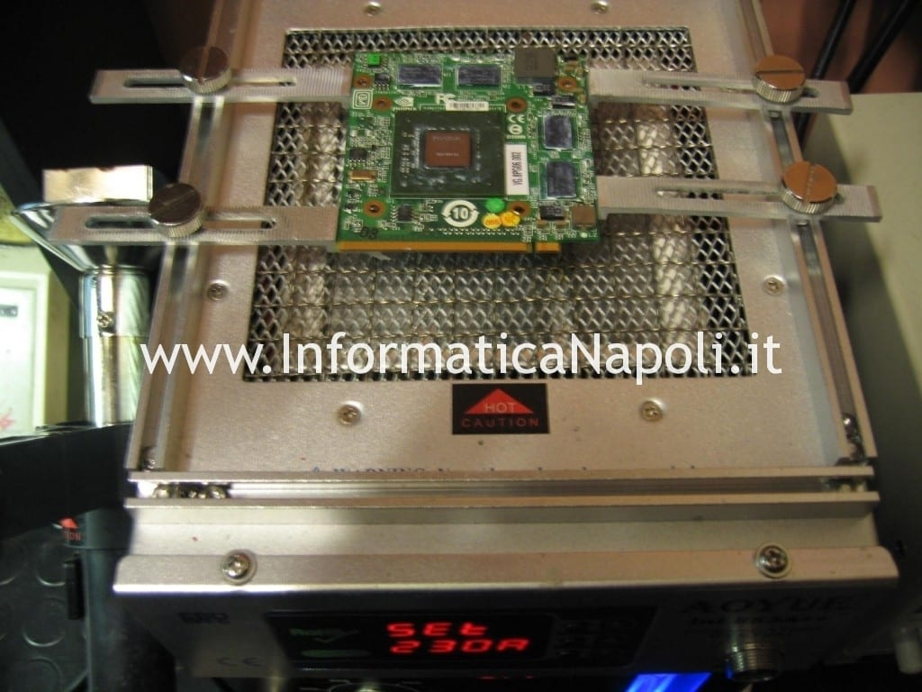 reflow reballing video nVidia GeForce 9600M GT  acer 5920g