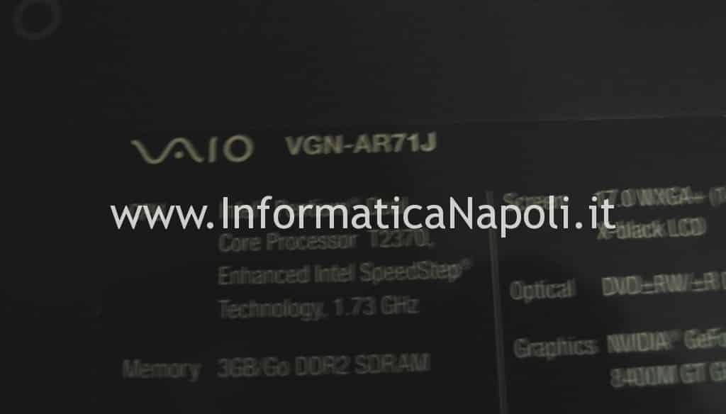 problemi video VGN-AR71J