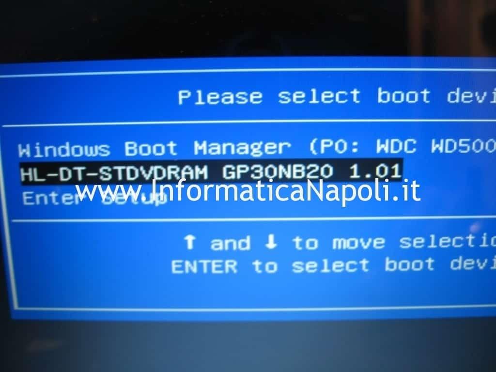 avviare asus x502 da dvd boot usb