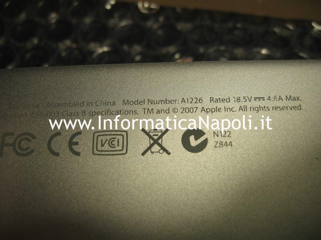 macbook pro a1226 non si accende