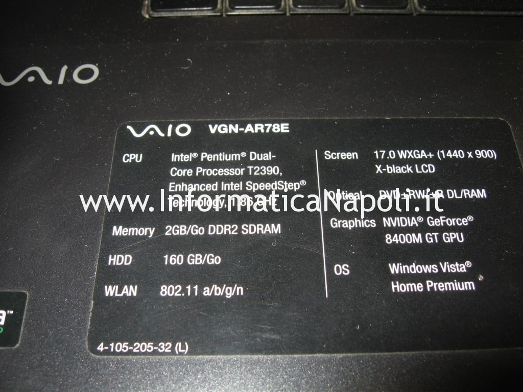 problema video Vaio VGN-AR78E PCG8121M