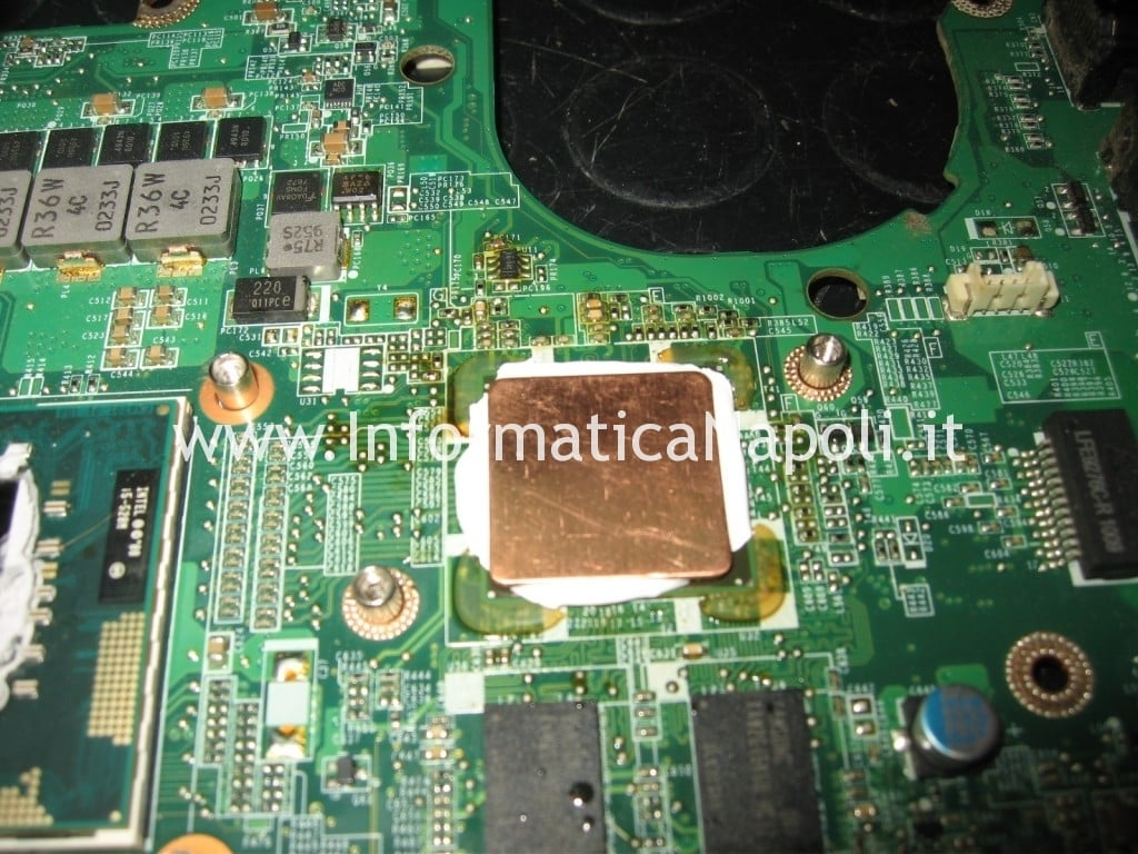 riparazione chip video ATI Dell Studio 1555 PP39L