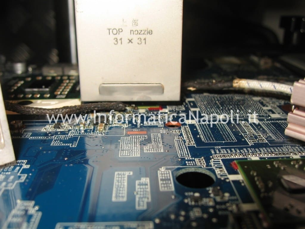 reballing reflow MacBook Pro 17 a1229