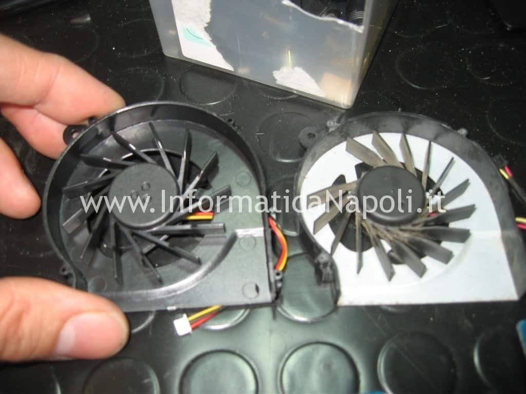 come sostituire ventola fan HP compaq cq56 SPARE 606609-001
