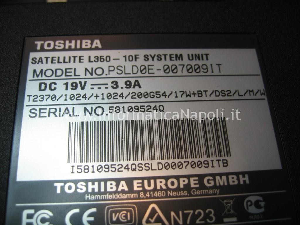 problemi Toshiba L350 - 10F PSLD0E
