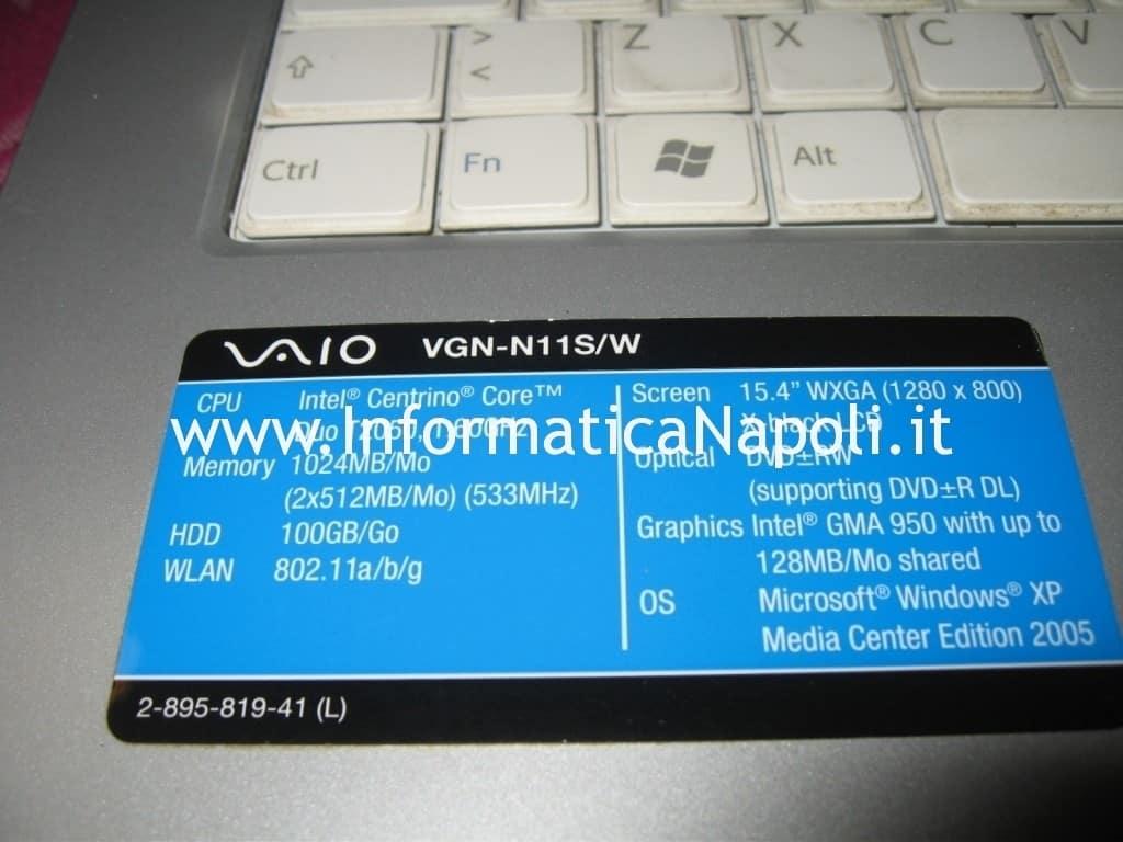 apertura Sony Vaio VGN-N11S