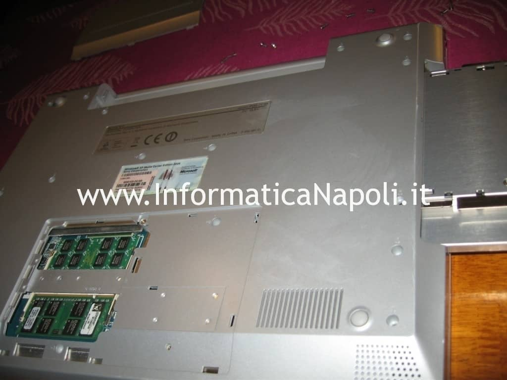 pulizia Sony Vaio VGN-N11S PCG-7T1M