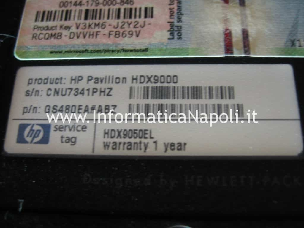 problemi video HP Pavilion HDX9000 HDX9050EL