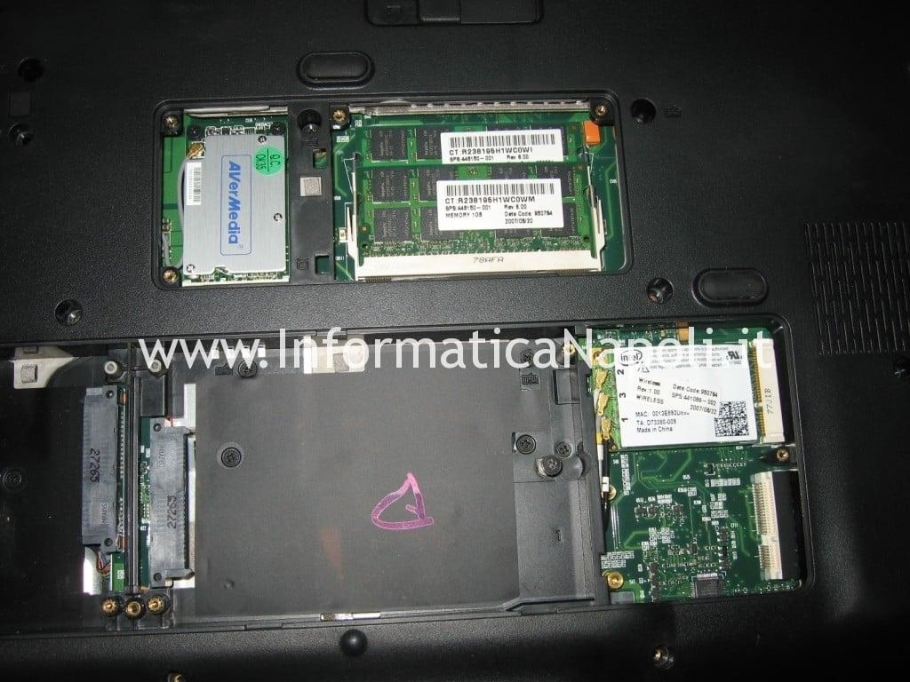 aprire smontare HP Pavilion HDX9200 HDX9490EL