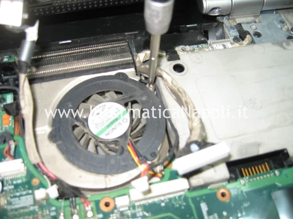smontare ventola HP Pavilion HDX9000 HDX9050EL