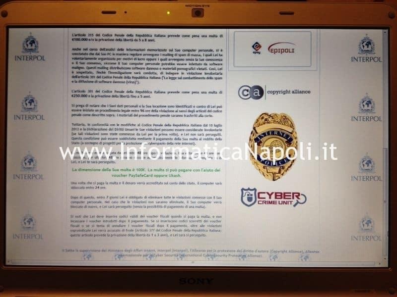 blocco virus Arma dei Carabinieri Interpol