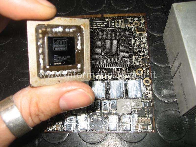 come effettuare reballing ATI Radeon iMac