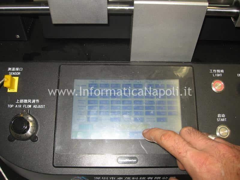 profilo termico reballing ATI Radeon iMac A1311 A1312