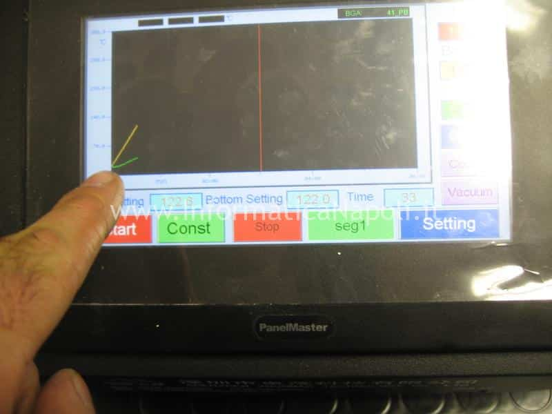 profilo termico reballing rework imac